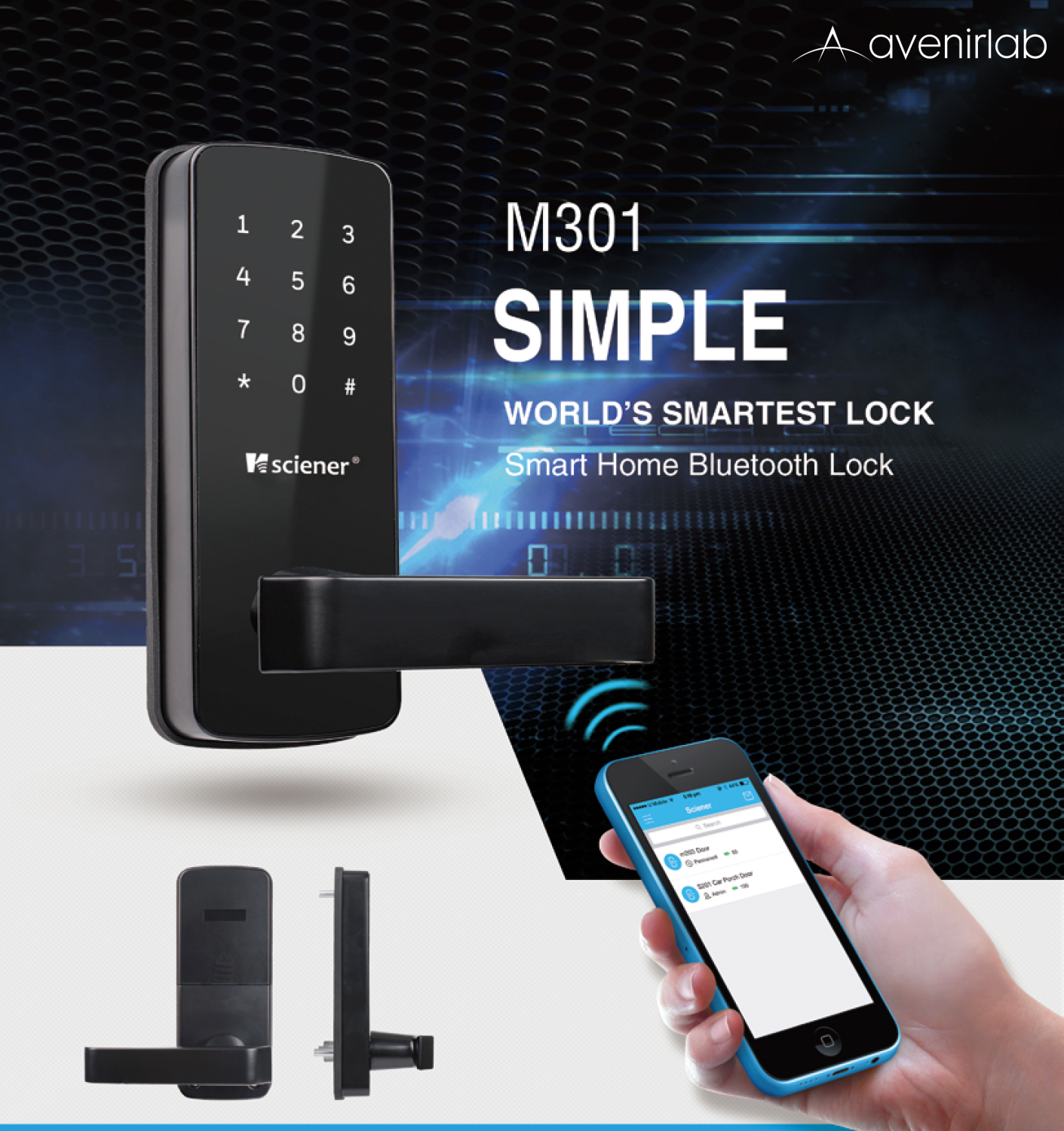 Sciener M301 Smart Door Lock Avenirlab Online Store